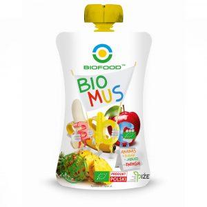 BIOFOOD Bio mus ABC ananas banan jablko 90g