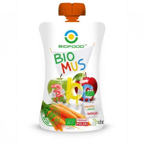 BIOFOOD Bio mus ABC jabłko-marchew 90g