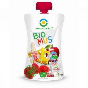 BIOFOOD Bio mus ABC malina/banan/jabl 90g