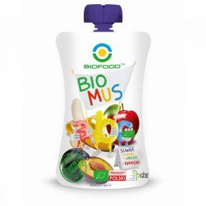 BIOFOOD Bio mus ABC śliwka banan jablko 90g