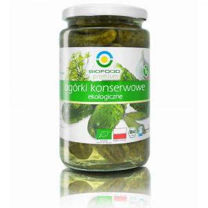 Ekologiczne ogórki konserwowe 700g Bio Food