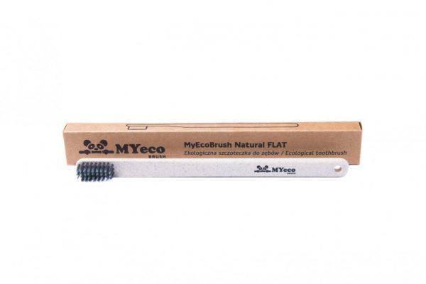 MyEcoBrush Szczoteczka FLAT beżowa