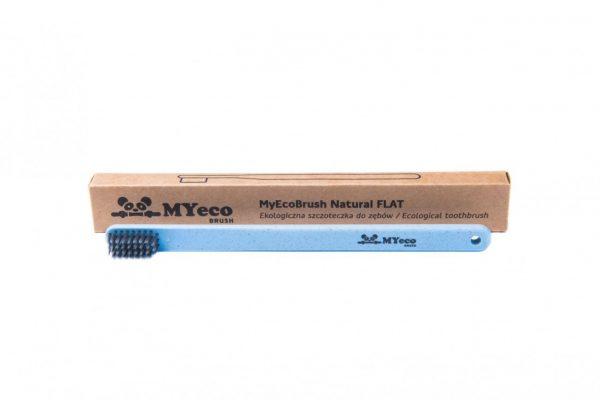 MyEcoBrush Szczoteczka FLAT niebieska