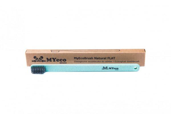 MyEcoBrush Szczoteczka FLAT zielona