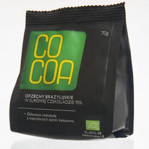 Cocoa Orzechy brazylijskie w sur. czekol. 70g BIO