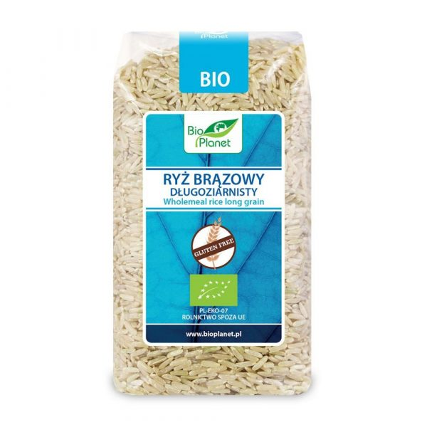 Bio Planet Ryż Brązowy długoziar. bezgl. 500g BIO