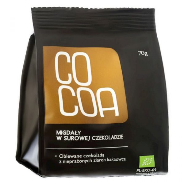 Cocoa Migdały w surowej czekoladzie 70g BIO