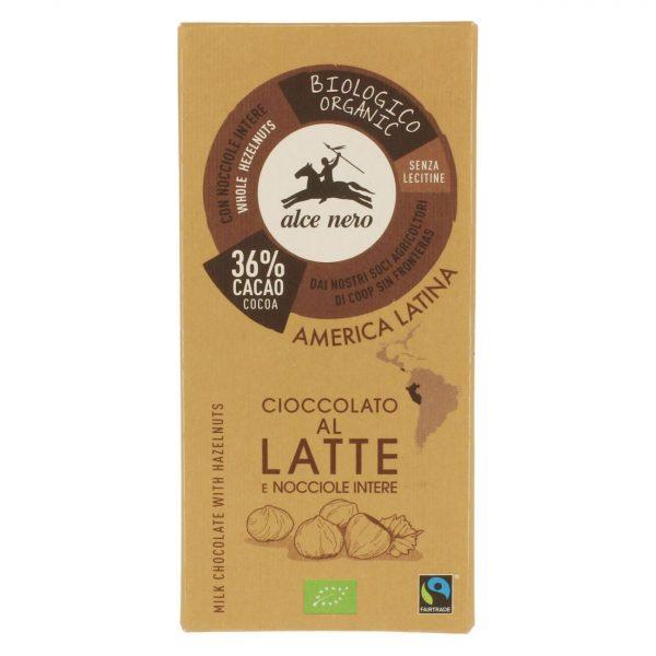 Fair Trade Czekolada mleczna z orzechami 100g BIO
