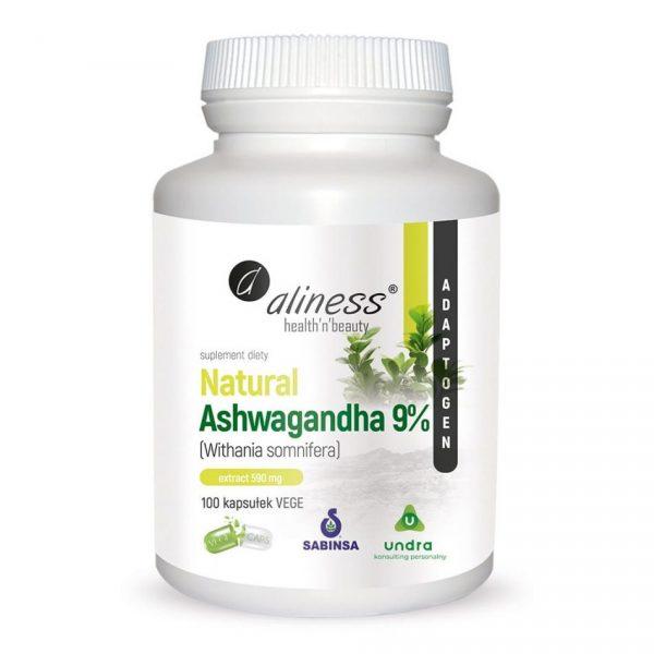 Aliness Ashwagandha 9% 600mg 100kaps