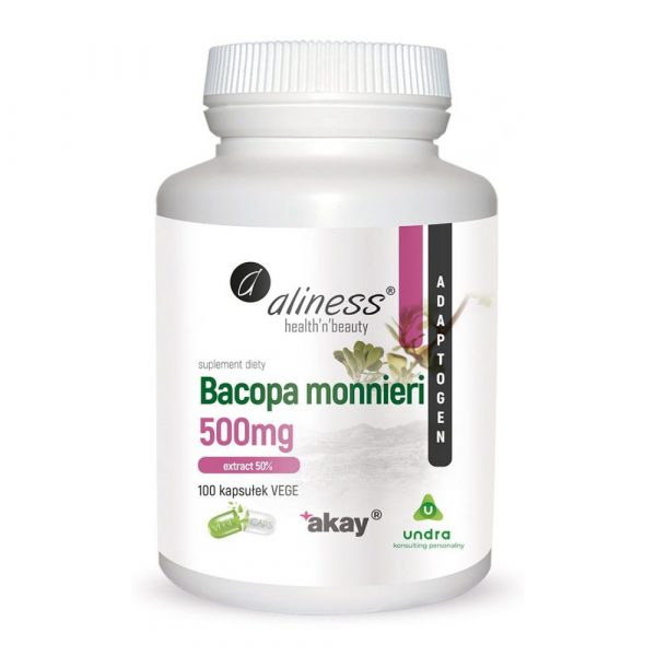 Aliness Bacopa Monnieri 500mg 100 kaps