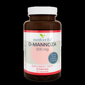 Medverita D-Mannoza 500mg 50 kaps
