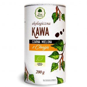 Dary Natury Kawa czarna mielona z chagą 200g EKO