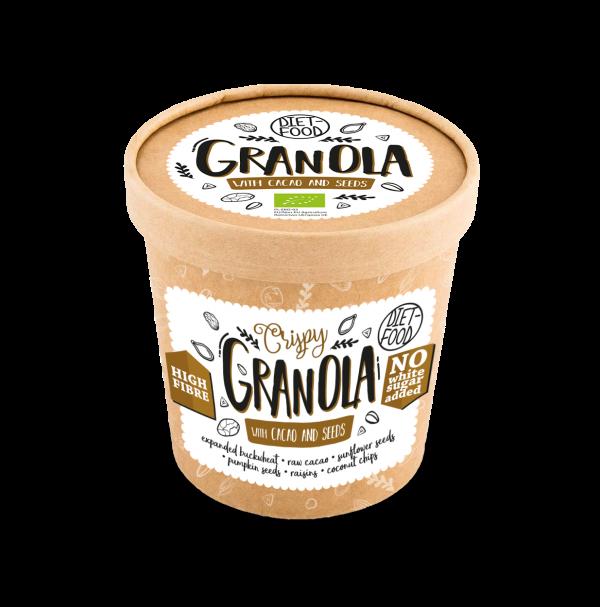 DIET-FOOD Granola Kakao kubek 70g BIO