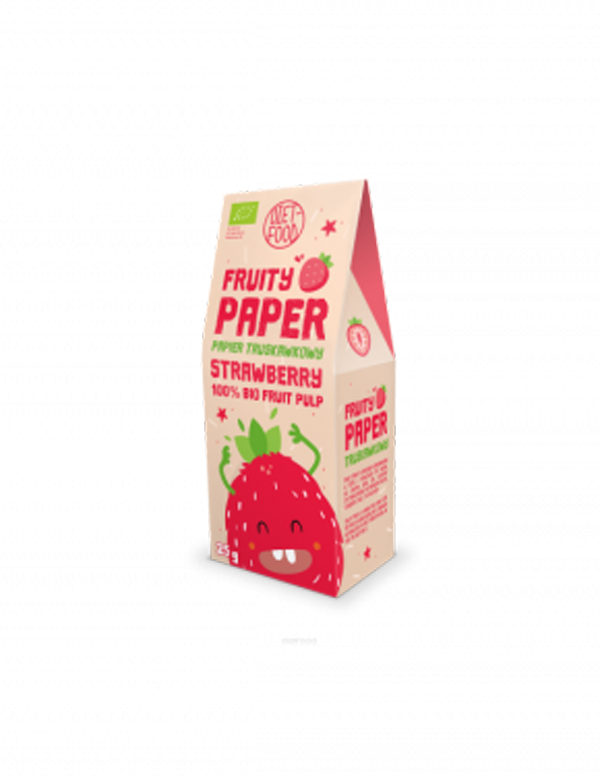 DIET-FOOD Papier truskawkowy 25g BIO