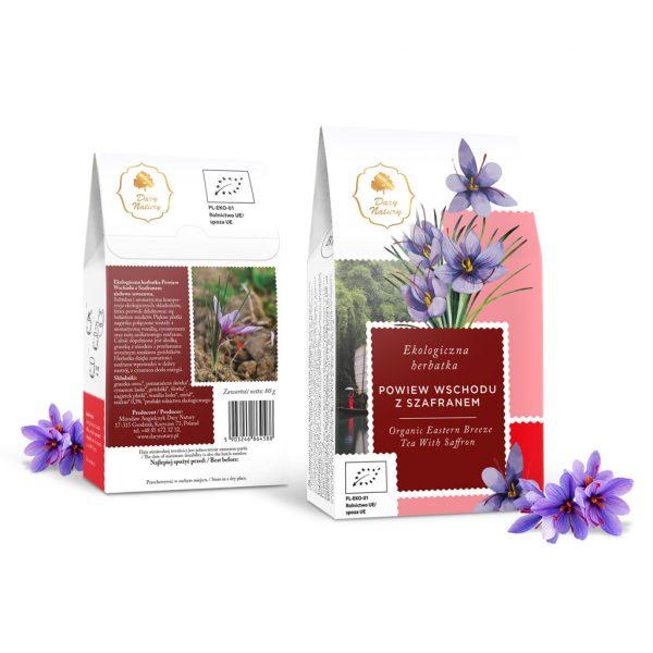 Dary Natury Herbatka powiew wschodu z szafranem 80g EKO