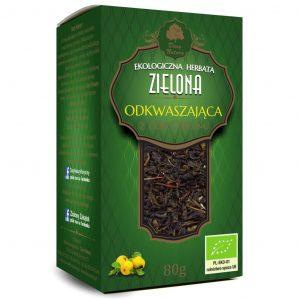 Dary Natury Herbatka zielona odkwaszająca 80g EKO