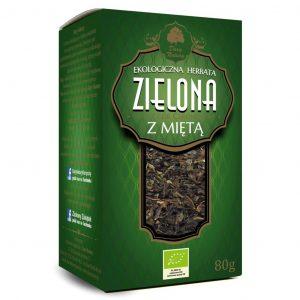 Dary Natury Herbatka zielona z miętą 80g EKO