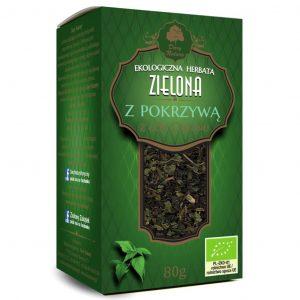 Dary Natury Herbatka zielona z pokrzywą 80g EKO