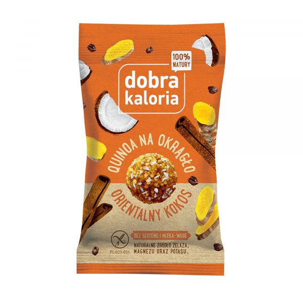 Ciasteczka kuleczki orientalny kokos Dobra Kaloria 24g