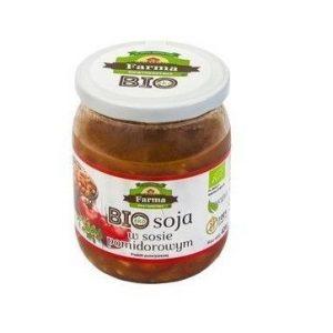 Farma Świętokrzyska Soja w sosie pomidorowym 420g BIO