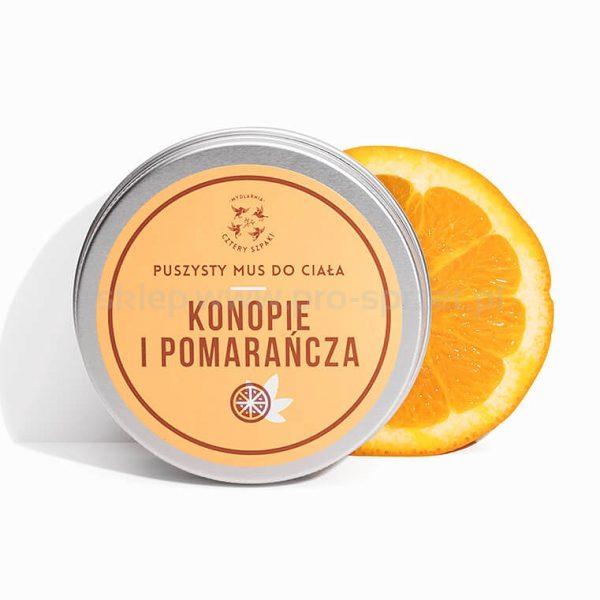 Mydlarnia Mus do ciała Konopie+Pomarańcza 150ml