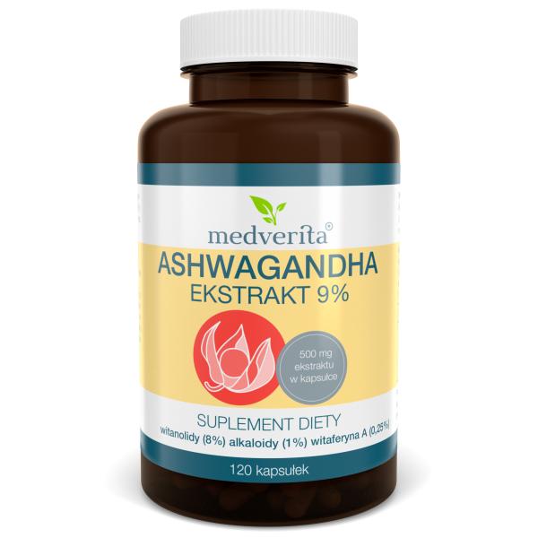 Medverita Ashwagandha 9% 120 kaps