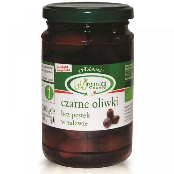 Bio Organica Czarne oliwki bez pestek