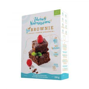ZDROWO NAMIESZANE  Bio Brownie z kakao i cukrem kokosowym 290g BIO