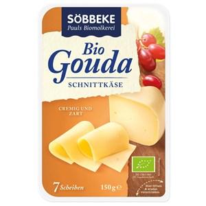 Ser gouda plastry (48 % tłuszczu) BIO 150 g - SOBBEKE