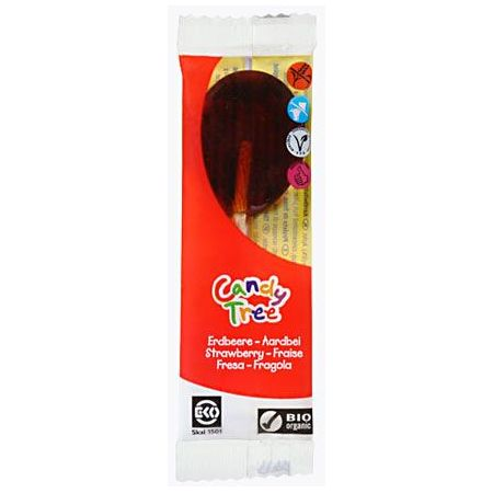 Candy Tree Lizak o smaku truskawkowym bezglutenowy 13 g Bio