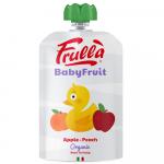 Przecier jabłko-brzoskwinia bezglutenowy BIO -Frulla