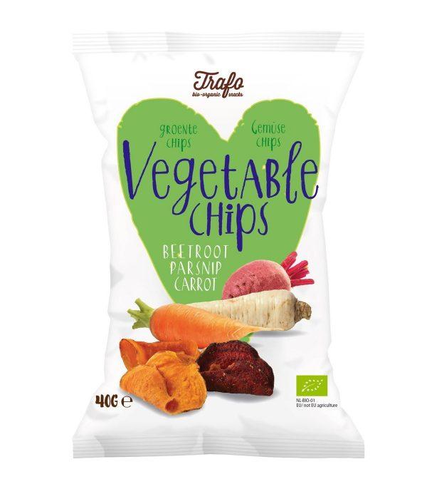 Trafo - Chipsy warzywne bezglutenowe bio 40g