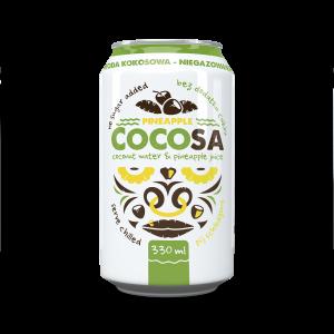 Woda kokosowa niegazowana z sokiem ananasowym 330ml Cocosa