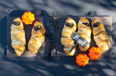 zdrowe przekąski na Halloween na talerzu